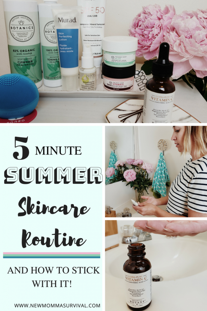 5 minute summer skincare routine