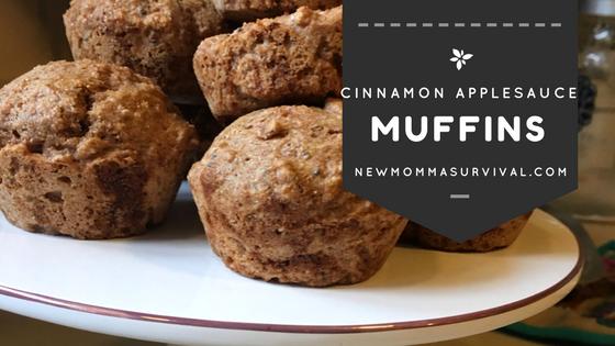 cinnamon applesauce muffin